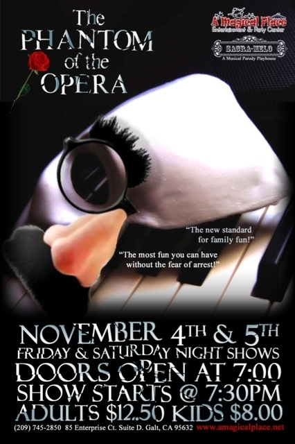 'Phantom of the Opera' Friday and Saturday at A Magical Place in Galt