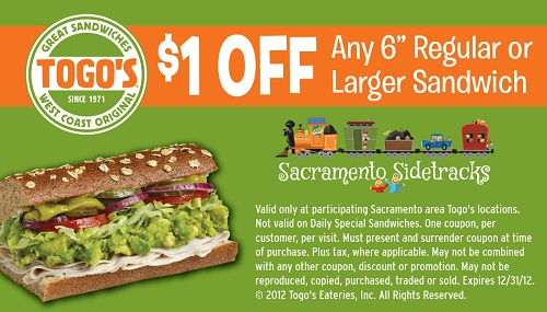 togos sandwiches coupon