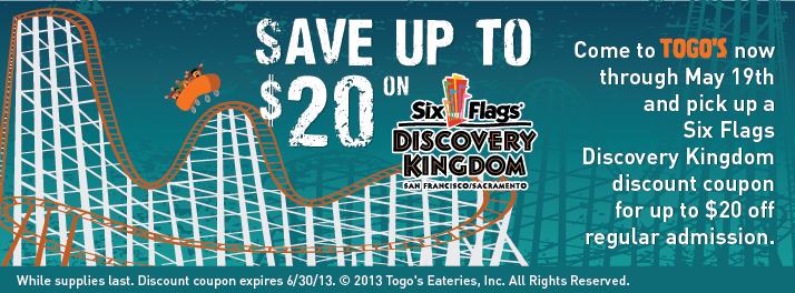 photograph regarding Six Flags Printable Coupons identify Coupon code 6 flags discovery kingdom / Proflowers absolutely free