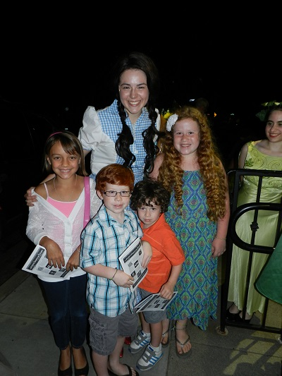 The kids were so excited to meet Dorothy and the whole cast outside after the show!
