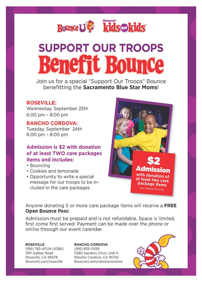 $2 Bounce to Support Our Troops