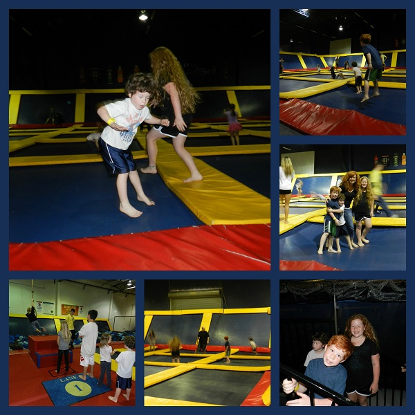 Family Time on Sky High's Trampolines