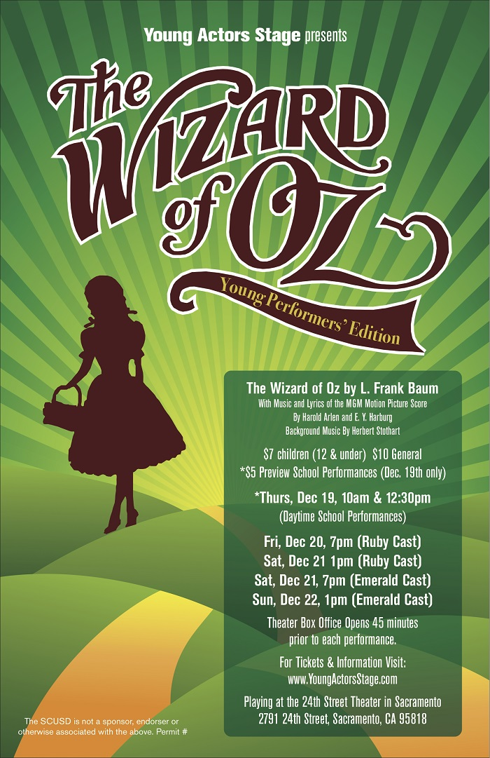 Young Actors Stage presents The Wizard of Oz [Giveaway]