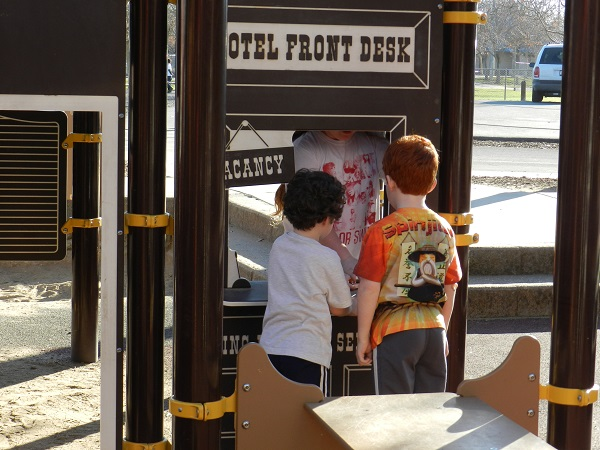 Kids go back in time to the Wild West at the Maidu Playground in Roseville