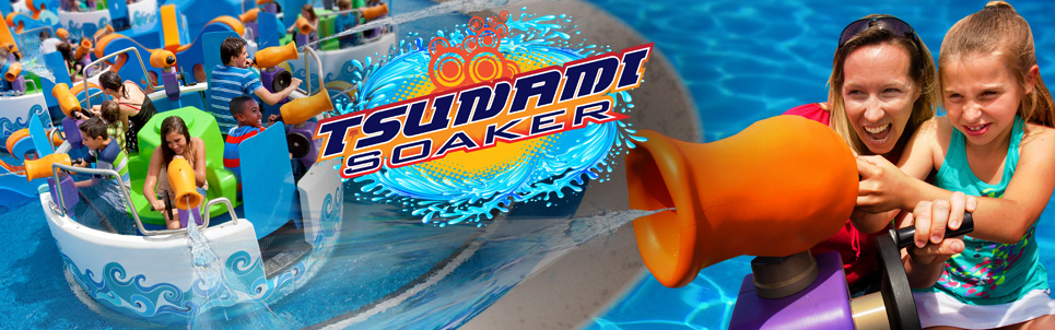 Try the brand new Tsunami Soaker at Six Flags [Everyone gets Kids Price in July!]