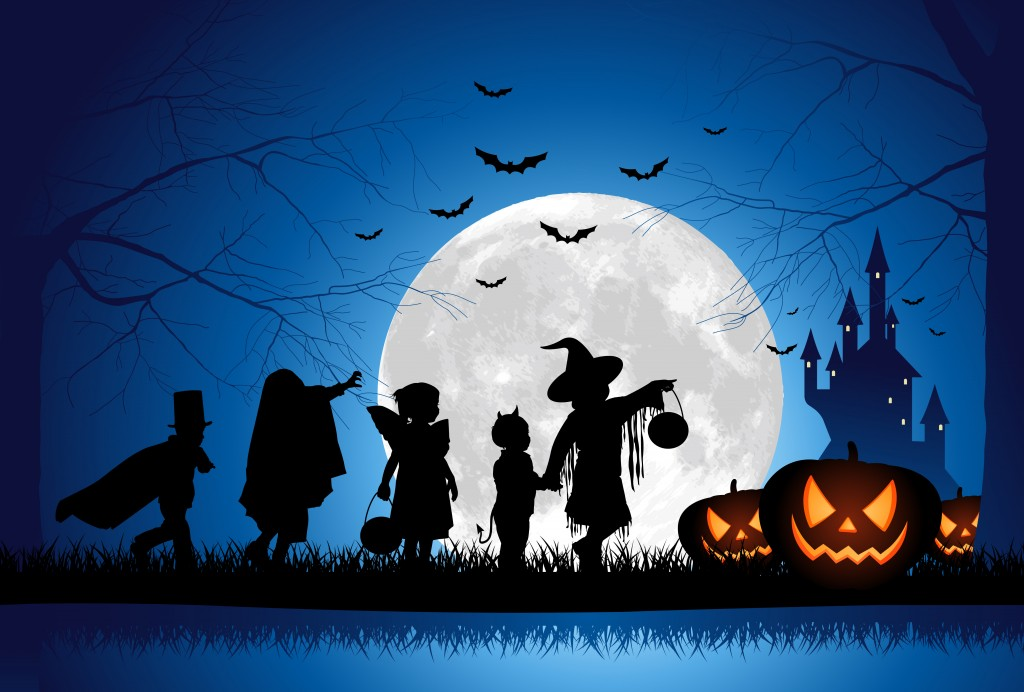 Image result for Pictures of Children on trick or treating